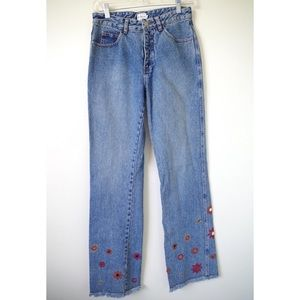 VINTAGE CALVIN KLEIN EMBROIDERED BOOTCUT MOM JEANS